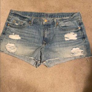 7 for all mankind daisy duke cut off shorts